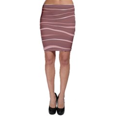 Lines Swinging Texture Background Bodycon Skirt