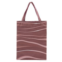 Lines Swinging Texture Background Classic Tote Bag
