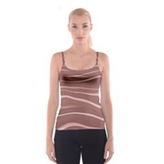 Lines Swinging Texture Background Spaghetti Strap Top