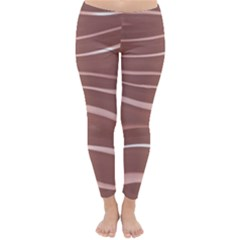 Lines Swinging Texture Background Classic Winter Leggings