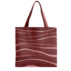 Lines Swinging Texture Background Zipper Grocery Tote Bag