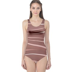 Lines Swinging Texture Background One Piece Swimsuit