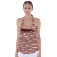 Lines Swinging Texture Background Babydoll Tankini Top