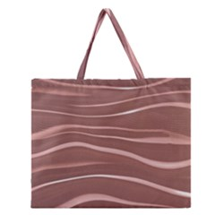 Lines Swinging Texture Background Zipper Large Tote Bag