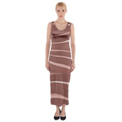 Lines Swinging Texture Background Fitted Maxi Dress