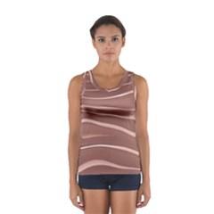 Lines Swinging Texture Background Women s Sport Tank Top