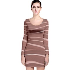 Lines Swinging Texture Background Long Sleeve Velvet Bodycon Dress