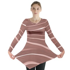 Lines Swinging Texture Background Long Sleeve Tunic