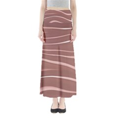 Lines Swinging Texture Background Maxi Skirts