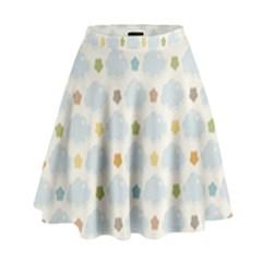 Baby Cloudy Star Cloud Rainbow Blue Sky High Waist Skirt