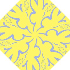 Doodle Shapes Large Flower Floral Grey Yellow Straight Umbrellas