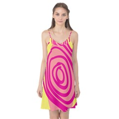 Doodle Shapes Large Line Circle Pink Red Yellow Camis Nightgown