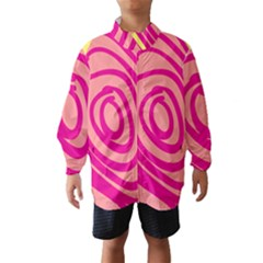Doodle Shapes Large Line Circle Pink Red Yellow Wind Breaker (Kids)