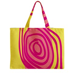 Doodle Shapes Large Line Circle Pink Red Yellow Medium Tote Bag