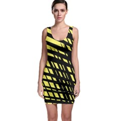 Doodle Shapes Large Scratched Included Sleeveless Bodycon Dress