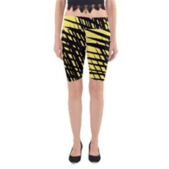 Doodle Shapes Large Scratched Included Yoga Cropped Leggings