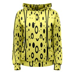 Easter Egg Shapes Large Wave Black Yellow Circle Dalmation Women s Pullover Hoodie