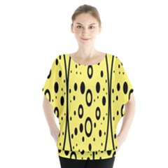 Easter Egg Shapes Large Wave Black Yellow Circle Dalmation Blouse