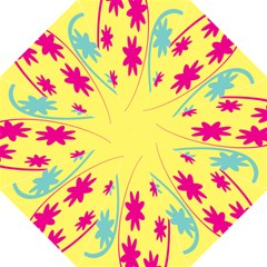 Easter Egg Shapes Large Wave Green Pink Blue Yellow Black Floral Star Straight Umbrellas