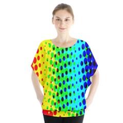 Comic Strip Dots Circle Rainbow Blouse