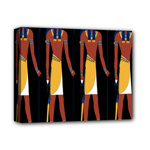 Egyptian Mummy Guard Treasure Monster Deluxe Canvas 14  x 11