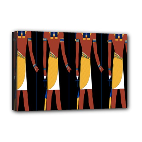 Egyptian Mummy Guard Treasure Monster Deluxe Canvas 18  x 12