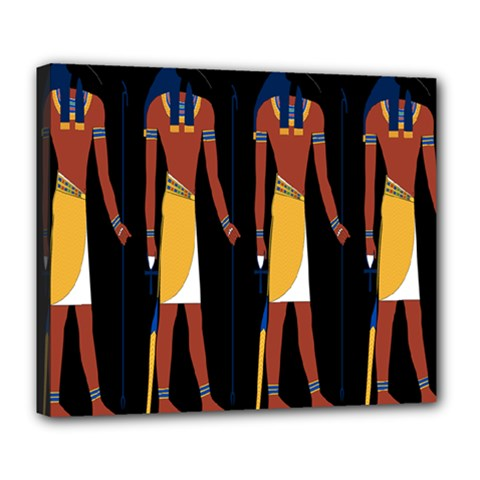 Egyptian Mummy Guard Treasure Monster Deluxe Canvas 24  x 20