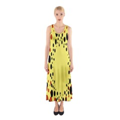 Gradients Dalmations Black Orange Yellow Sleeveless Maxi Dress