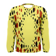 Gradients Dalmations Black Orange Yellow Men s Long Sleeve Tee