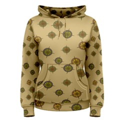 Compass Circle Brown Women s Pullover Hoodie