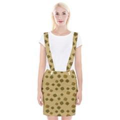 Compass Circle Brown Suspender Skirt