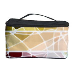 Geometric Mosaic Line Rainbow Cosmetic Storage Case