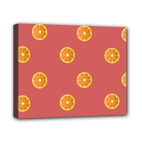Oranges Lime Fruit Red Circle Canvas 10  x 8