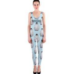 Penguin Animals Ice Snow Blue Cool OnePiece Catsuit