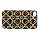 Seamless Floral Flower Star Red Black Grey Apple iPhone 4/4S Hardshell Case View1