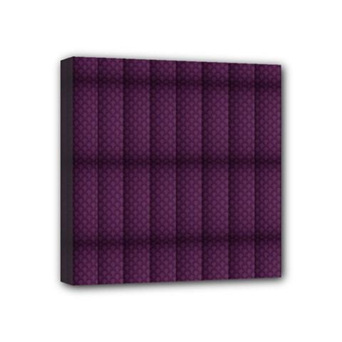 Plaid Purple Mini Canvas 4  x 4