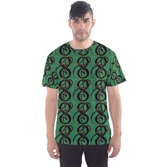 Abstract Pattern Graphic Lines Men s Sport Mesh Tee