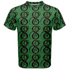 Abstract Pattern Graphic Lines Men s Cotton Tee