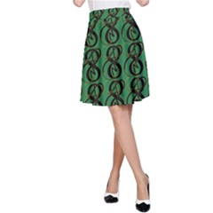 Abstract Pattern Graphic Lines A-Line Skirt