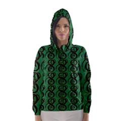 Abstract Pattern Graphic Lines Hooded Wind Breaker (women)