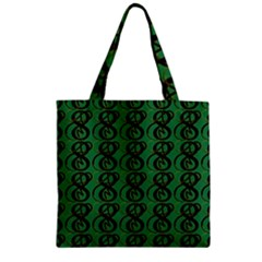 Abstract Pattern Graphic Lines Zipper Grocery Tote Bag