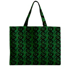 Abstract Pattern Graphic Lines Zipper Mini Tote Bag