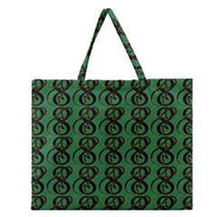 Abstract Pattern Graphic Lines Zipper Large Tote Bag