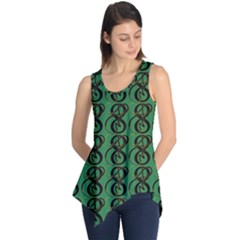 Abstract Pattern Graphic Lines Sleeveless Tunic