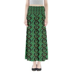 Abstract Pattern Graphic Lines Maxi Skirts