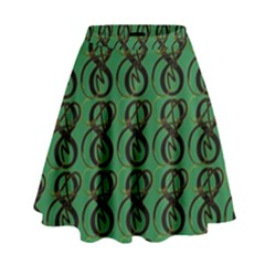 Abstract Pattern Graphic Lines High Waist Skirt