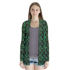 Abstract Pattern Graphic Lines Cardigans