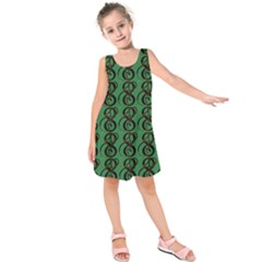 Abstract Pattern Graphic Lines Kids  Sleeveless Dress