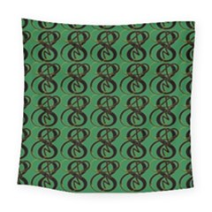 Abstract Pattern Graphic Lines Square Tapestry (large)