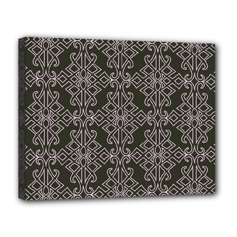 Line Geometry Pattern Geometric Canvas 14  X 11